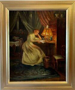 Antique Danish Watercolor G Frii Floral Still Life Van Gelder Zonen Watermark