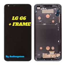 DISPLAY+ TOUCH SCREEN+FRAME COVER SCHERMO LG per G6 H870 OPTIMUS NERO GRIGIO LCD