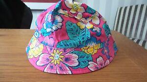 John Lewis Pink Flower Girls Bucket Hat 100% Cotton Age 2-4, 5-8 New RRP £8