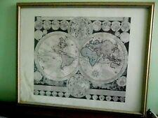 ancien planisphere map world, A F Zurner 18 s.