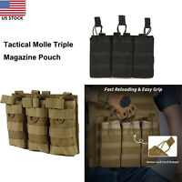 Tactical Triple Mag Holster For 5.56/.223 Magazine Bag Pack MOLLE Magazine Pouch