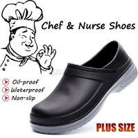 AtreGo Mens Nursing Kitchen Chef Garden Work Shoes Soft Insole Slip-ons