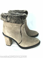 ZARA WOMENS LEATHER FUR LINED HIGH HEEL ANKLE BOOTS SIZE UK4 EUR37 US6.5