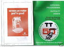 1975 DUTCH TT ASSEN PROGRAMME. GRAND PRIX,MOTO GP GEOFF DUKE,HAMERSVELD,VEER,SUR