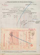 Berlín n 24, factura 1890, Editorial librería Julius Springer
