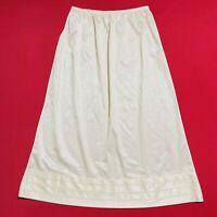 """MEL-LIN ... Vintage  26""""  Nylon  Half  Slip ... Ivory ... Size  M ... NEW"""
