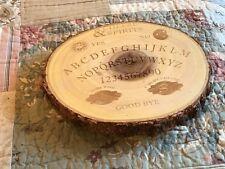 Meritage Wood Tree Cheese Ouija Halloween Wine & Spirits Cheese Board NWT