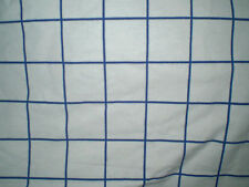 Vintage WHITE & BLUE SQUARE GEOMETRIC Fabric (50cm x 50cm)