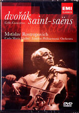 DVD: Mstislav ROSTROPOVICH & GIULINI: DVORAK SAINT-SAENS Cello Co Rostropowitsch
