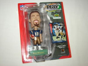 "Kurt Warner St. Louis Rams Upperdeck NFL 7"" Football Bobblehead Figure NEW"