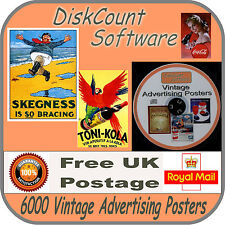 6000 + Old Advertising Posters and Vintage Photographs