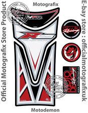YAMAHA YZF R125 08 - 16 Blanc Rouge Moto Réservoir Pad Motografix Gel Protecteur