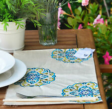 """2x Fashion East Modern Doilies, Full-lined Embroidery, 30x45cm (12""""x18"""") FFD031"""