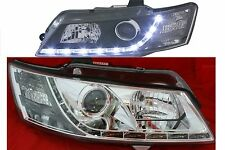 Projector Headlights for Holden Commodore VY Models LED DRL Like Chrome housing