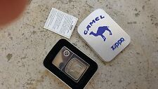Camel Cigarette Zippo Lighter,1 with Raised Camel,Never Used In Box,Outer Sleeve