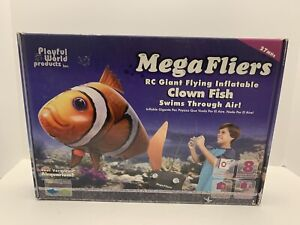 New Mega Fliers RC Giant Flying Inflatable Clown Fish Air Swimmer 27MHz- F24