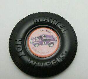 Evil Weevil Button w/Tab Hot Wheels Redline Pin Original 1969 HTF VW Badge