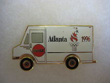 Atlanta 1996 Olympic Sponsor Pin - Coca Cola White Truck With Spinning Wheels