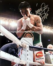 MANNY PACQUIAO Signed 10x8 'MORALES' Team Pac Cert B