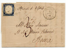 ANTICHI STATI 1861 SARDEGNA 20 C. INDACO AMELIA 3/12 ( P. 8 ) D/3061