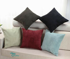 Square Pillows Cushions Throws Covers Home Super Soft Corduroy Stripes