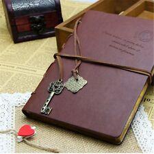 Hellfire Trading Leather Key Blank Diary Journal Sketchbook Notebook Retro UK