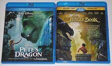 Disney Blu-ray DVD Lot - Pete's Dragon (Used) The Jungle Book (Used)