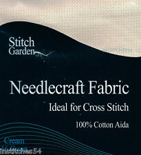 Stitch Garden 16 Count Aida For Cross Stitch Cream