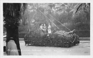 H90/ Pasadena California Postcard RPPC c1920s Floral Parade Float  45