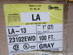 "LIQUATITE LA-13 1"" LIQUIDTIGHT FLEXIBLE CONDUIT TYPE UA MULTIPLE LENGTHS"
