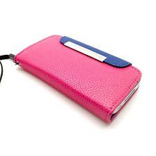 Custodia per iPhone 4S / 4 A Portafoglio In Pelle Rosa + Pellicola