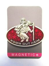 Autoplakette Christophorus Magnet Schutzpatron Autofahrer KOMM GUT HEIM --