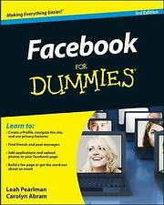 Facebook For Dummies Pearlman, Leah, Abram, Carolyn Paperback Used - Like New
