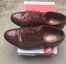 Loake chestnut Brownish leather brogue shoes UK size 7.5 EU 41.5