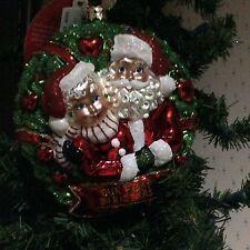 2015 Christopher Radko Santa Loving Couple  Ornament NIB  No. 1017317