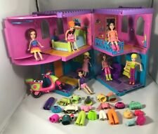 Lot Polly Pocket Fashion Doll Lot Dolls Figures Clothes Polly Hotel Accessories