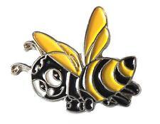 Honey Bee Beekeeping Yellow & Black Metal Enamel Badge 23mm Bumble Hornet Wasp