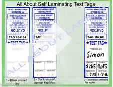 """1000 """"Pick n Mix"""" Colours Self-Laminating Electrical Test Tags Labels"""