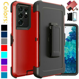 For Samsung Galaxy S21 S21+Ultra 5G Hard Case Cover Clip Fits Otterbox Defender