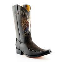 Grinders Kansas Cowboy Western Brown Leather Boots Knee High Boot West Biker
