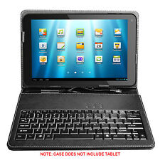 "Stand Leather Case Cover w/ USB Keyboard for Android Tablet 10"" Universal"