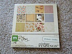 Making Memories Vintage Findings 8x8 scrapbooking paper pad, 48 sheets