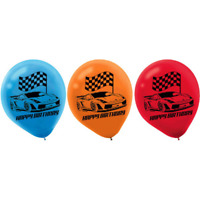 Hot Wheels Wild Racer Printed Latex Balloons (6)