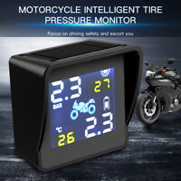 Ahomi Solar-Motorrad TPMS Reifendrucküberwachung Alarmsystem mit Zwei Senso