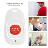 433MHz Wireless SOS Emergency Button Alarm Burglar Alert Waterproof For Older