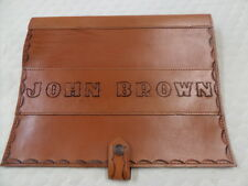 TRUCK LOG BOOK COVER WORK DIARY LEATHER PERSONALISE to 10 CHARACTERS and spaces