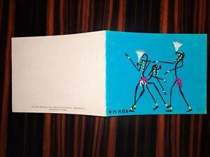 1950s Congo West Africa Original Watercolour Gouache painting card signed Ouassa