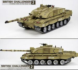Heng Long  British Challenger 1:16 RC Tank - Platinum 6.0 V - BB & IR Battle