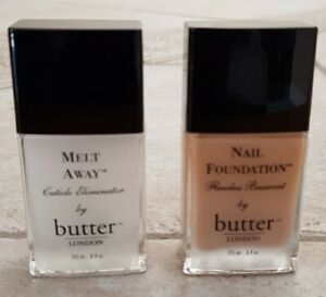 NEW, BUTTER LONDON,NAIL FOUNDATION FLAWSLESS COAT & MELT AWAY CUTICLE ELIMINATOR