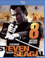8-Movie Action Steven Seagal (2-disc Blu-ray) DISC & ARTWORK ONLY NO CASE UNUSED